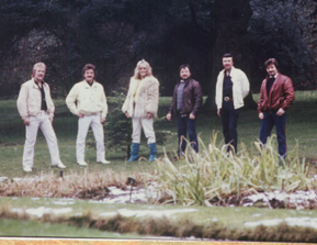 Harmony Grass photo shoot just before appearing on an RTE Show late (Ireland '80s)